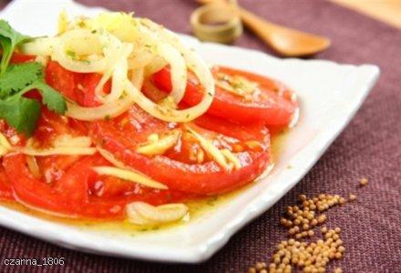 Sałatka pomidorowa na ostro