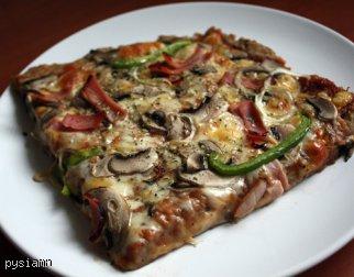 Pizza dietetyczna na cieście twarogowym