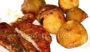 Schab + ziemniaczki musztardowe z pieca