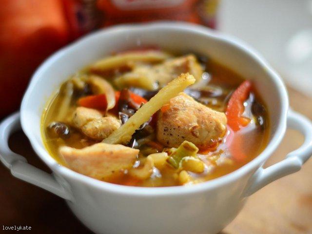Słodko-ostra zupa chińska