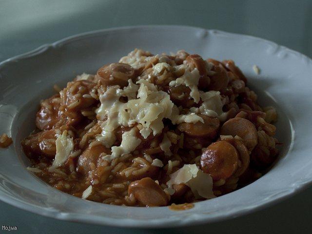 Kryzysowe a'la risotto z parówkami