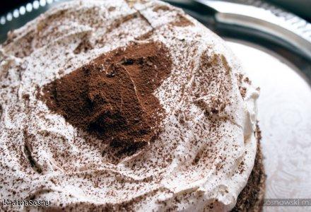 tort kawowy z bezą