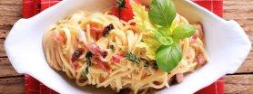 Spaghetti a la carbonara z serkiem topionym