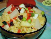 Kurczak curry na słodko z ryżem