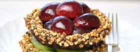 Czekoladowe babeczki z owocami