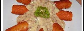 Paluszki krabowe w sosie smietanowo-grzybowym