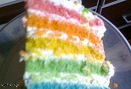 RAINBOW CAKE Tęczowy tort