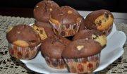 Łaciate muffiny z nadzieniem toffi