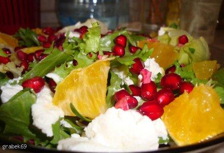 Sałatka z ricottą i pomarańczą