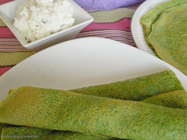 Zielone naleśniki z serem
