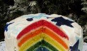 Tort Tęczowy - trochę inny przepis