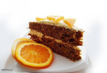 Ciasto marchewkowe z pomarańczowym kremem z mascarpone