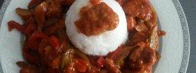 mięso mielone z warzywami i ryżem