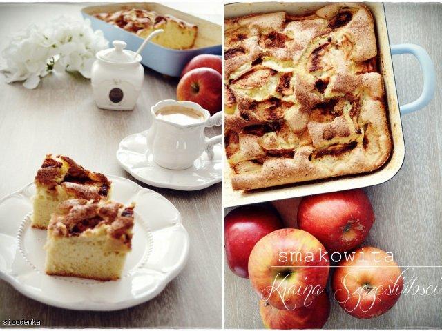 Puszysty biszkopt z jabłkami :)