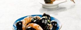 Hiszpańskie czarne oliwki z krewetkami