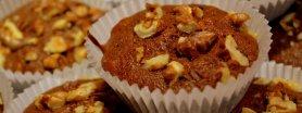 Muffinki czekoladowe z orzechami