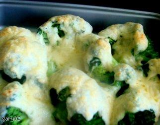 Brokuły zapiekane w sosie beszamelowym