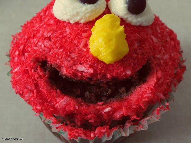 Babeczki Elmo