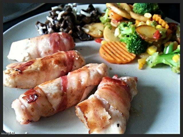 Obiad w 20 minut - kurczak zawijany w plastrach boczku!