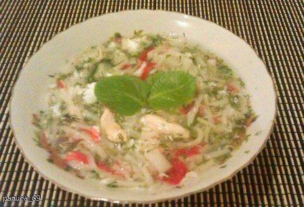 Zupa krabowa z surimi