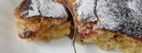 Norweskie ciasto rabarbarowe