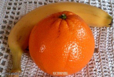 Koktajl pomarańczowo- bananowy