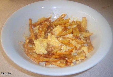 Domowe frytki z jajkiem