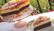Letni torcik z brzoskwiniami