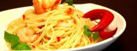 Spaghetti  z krewetkami i ostrą papryczką