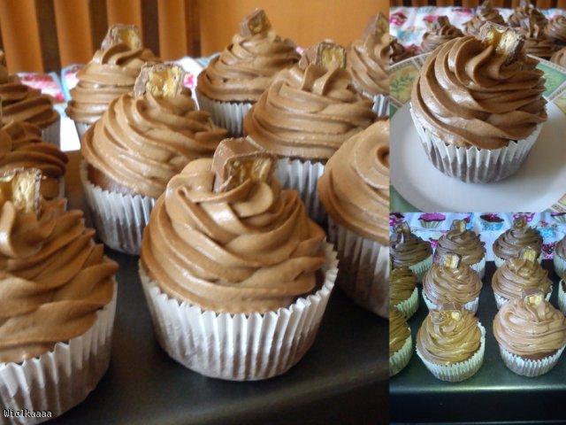 Kremowe czekoladowe muffinki.