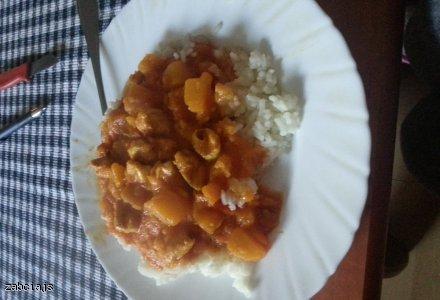 Kurczak z dynią i curry