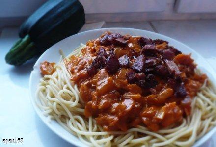 spagetti cukiniowo pomidorowe