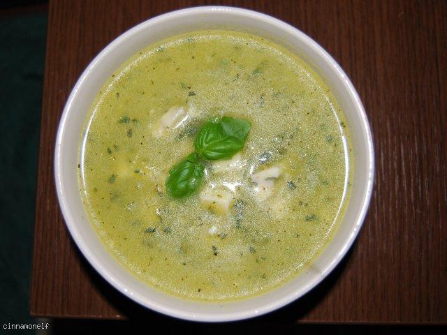 Zupa z cukinii i pestek dyni