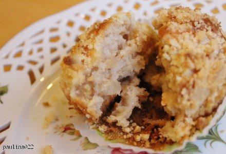 Gruszkowe muffiny z kruszonką pachnące cynamonem