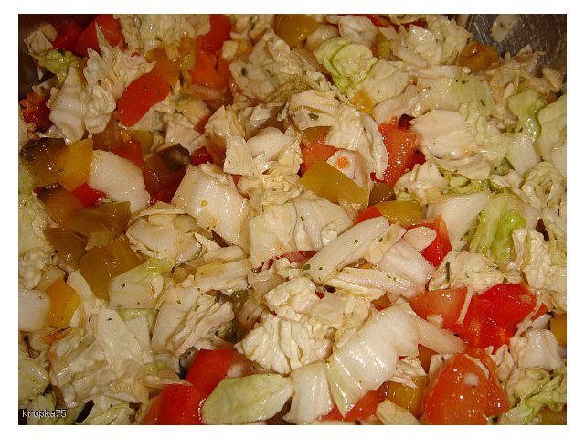 Surówka warzywna z pekinką / sałatą lodową