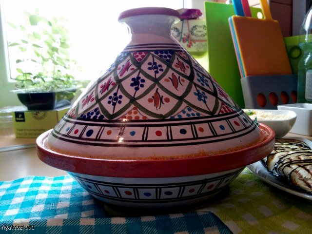 Marokański tagine z grillowanym baklażanem i kuskusem ;)