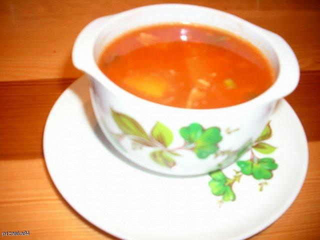 rozgrzewająca zupa słodko - kwaśna