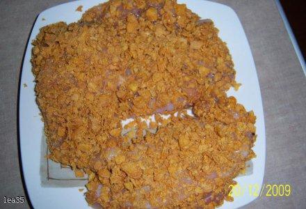 Filet z Kurczaka w płatkach kukurydzianych.