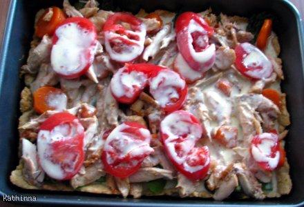 Tarta ze szparagami i kurczakiem