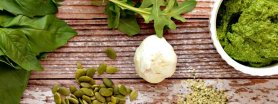 Zielone Pesto z nasionami konopi i olejem z konopi