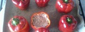 Papryczki faszerowane kaszą i indykiem