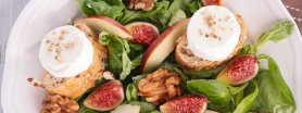 Jesienna sałatka z figami, kozim serem i orzechami