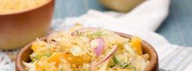 Sałatka z fenkułu i kaszy bulgur z dressingiem cytrusowym