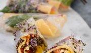 Sajgonki z serem i warzywami