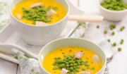 Kremowa zupa marchewkowa z kurczakiem