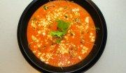 Chłodnik pomidorowy z Serkiem Wiejskim bez laktozy