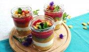Owocowo-jogurtowe śniadanie z płatkami kukurydzianymi