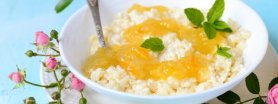 Zapiekany ryż waniliowy z dżemem cytrusowym Łowicz