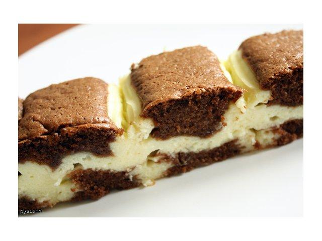 Pyszne wilgotne ciasto czekoladowe z masą serową :D