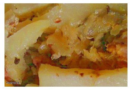 Zapiekanka ziemniaczano-mięsno-kapuściana